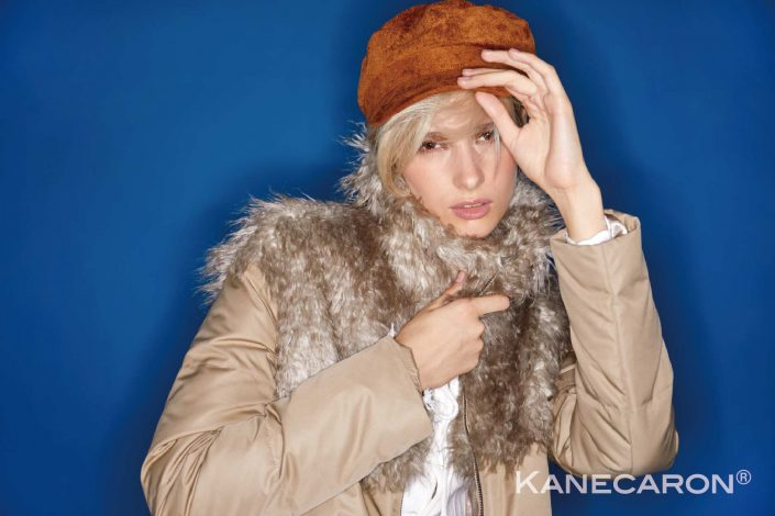 Kanecaron Modacrylic Fibre fashion jacket faux fur beige 2