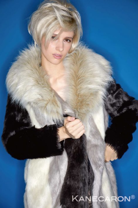 Kanecaron Modacrylic Fibre fashion jacket faux fur 3