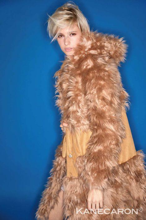 Kanecaron Modacrylic Fibre fashion jacket faux fur 2