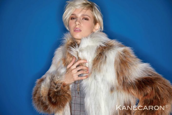 Kanecaron Modacrylic Fibre fashion jacket faux fur