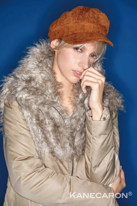 Kanecaron Modacrylic Fibre fashion coat beige