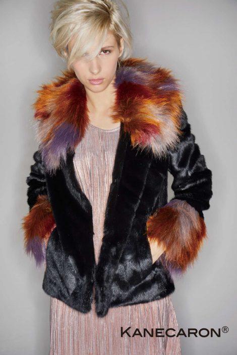 Kanecaron Modacrylic Fibre fashion jacket
